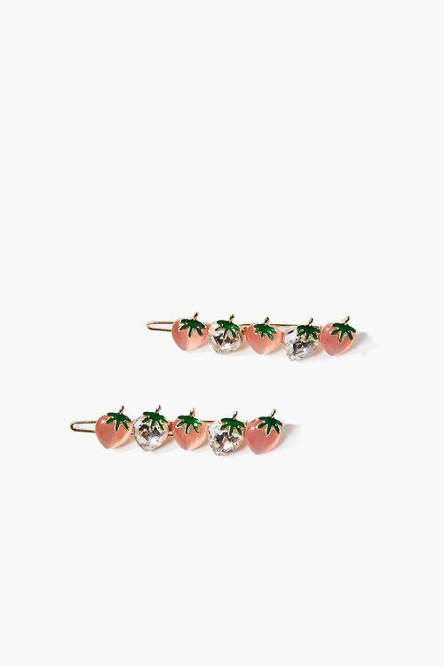 Strawberry Hair Clip Set, image 1