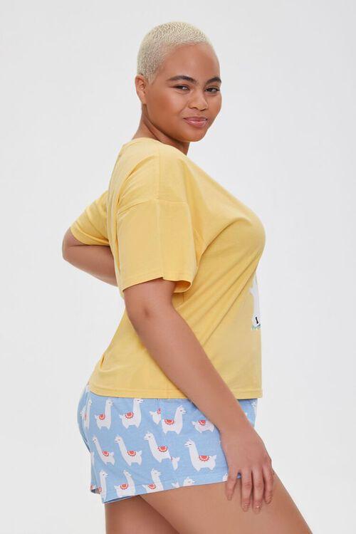 Plus Size Llamaste Graphic Pajama Set, image 2