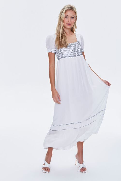 Embroidered Maxi Dress, image 1