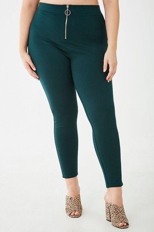 Plus Size Pull-Ring Leggings, image 2