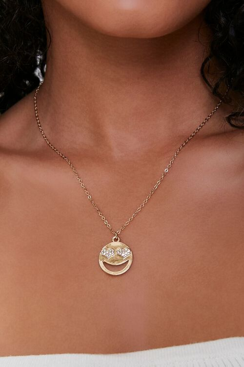 Heart-Eyes Pendant Necklace, image 1
