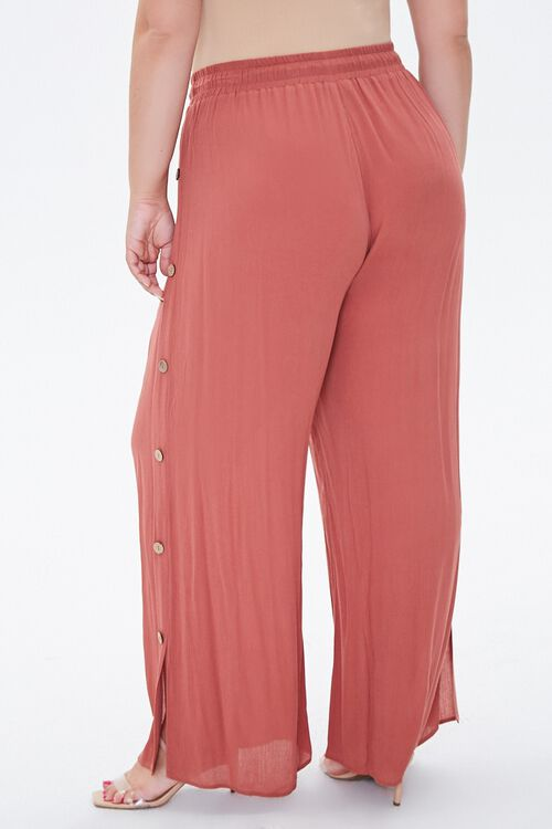 Plus Size Slit-Leg Crinkle Pants, image 3