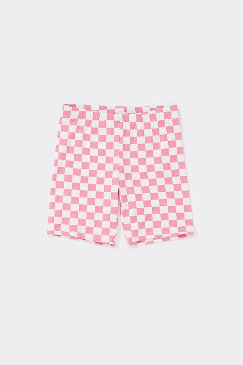 Girls Checkered Biker Shorts (Kids), image 1