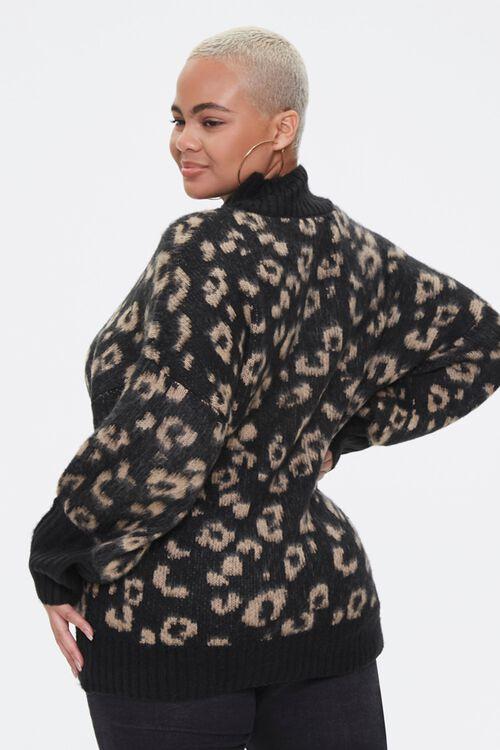 Plus Size Leopard Print Sweater, image 3