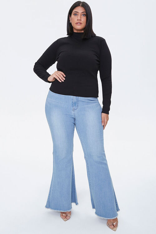 Plus Size Fitted Mock Neck Top, image 4