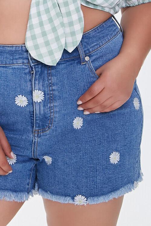Plus Size Daisy Denim Shorts, image 5