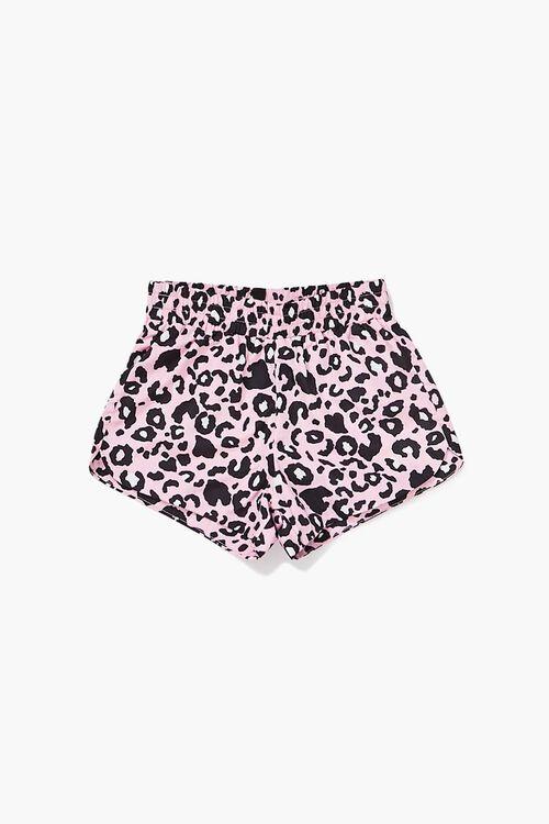 Girls Leopard Print Shorts (Kids), image 1