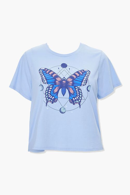 Plus Size Butterfly Graphic Tee, image 1