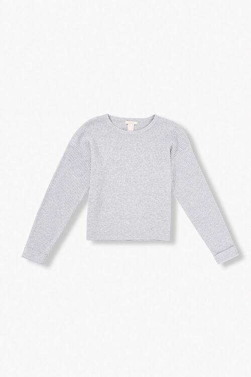 Girls Ribbed Cuffed Sweater (Kids), image 1