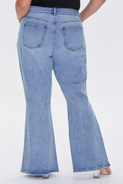 Plus Size Distressed Flare Jeans, image 4