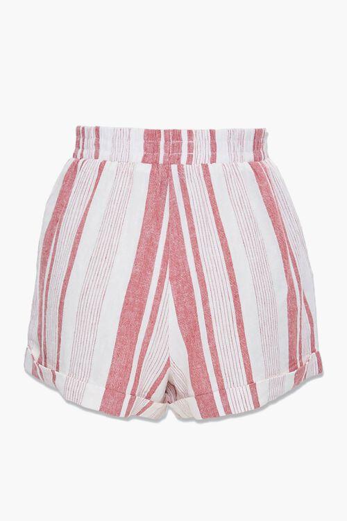 Striped Linen-Blend Shorts, image 3