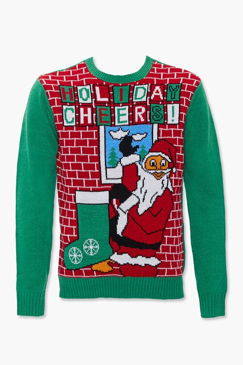 Holiday Cheers Graphic Knit Sweater, image 1