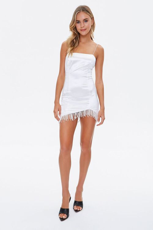 Faux Pearl Cami Mini Dress, image 4