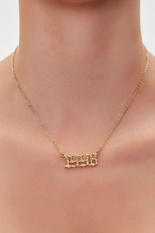 Year Pendant Necklace, image 1