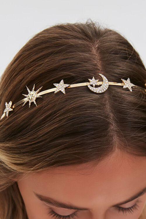GOLD Celestial Charm Metal Headband, image 2