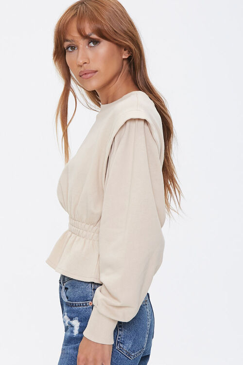 French Terry Flounce-Hem Top, image 2