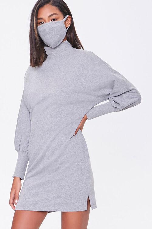 Mock Neck Dress & Face Mask Set, image 1