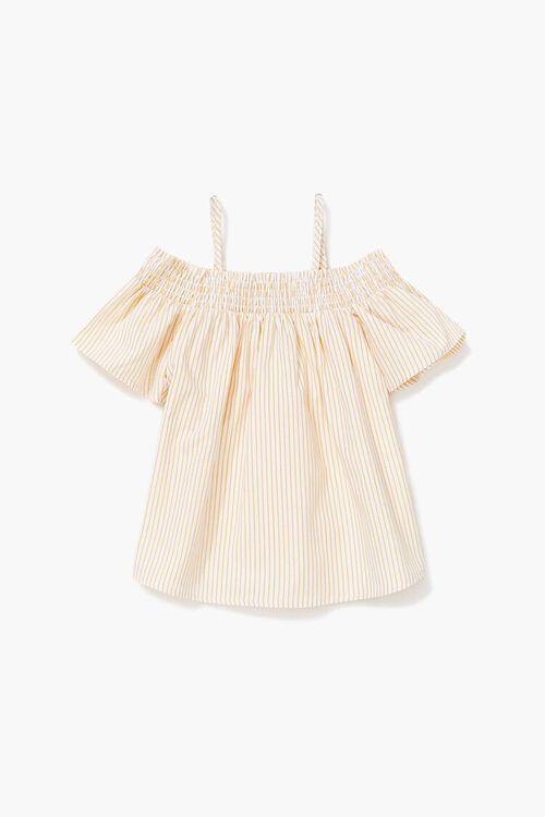Girls Striped Open-Shoulder Top (Kids), image 1