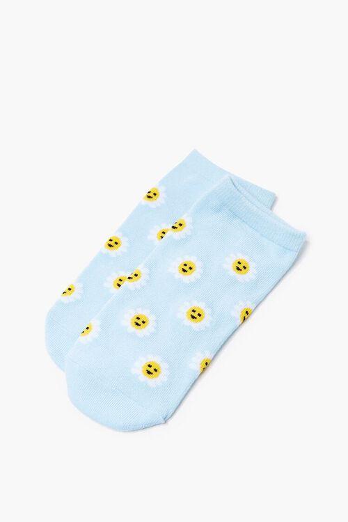 BLUE/MULTI Daisy Print Ankle Socks, image 3