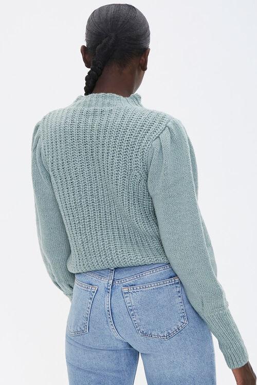 Mock Neck Ribbed Sweater, image 3