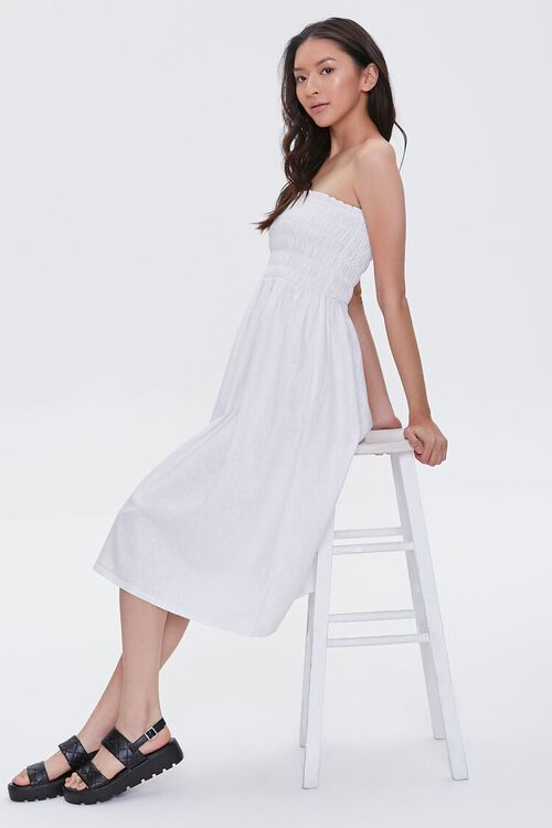Smocked Strapless Dress, image 1