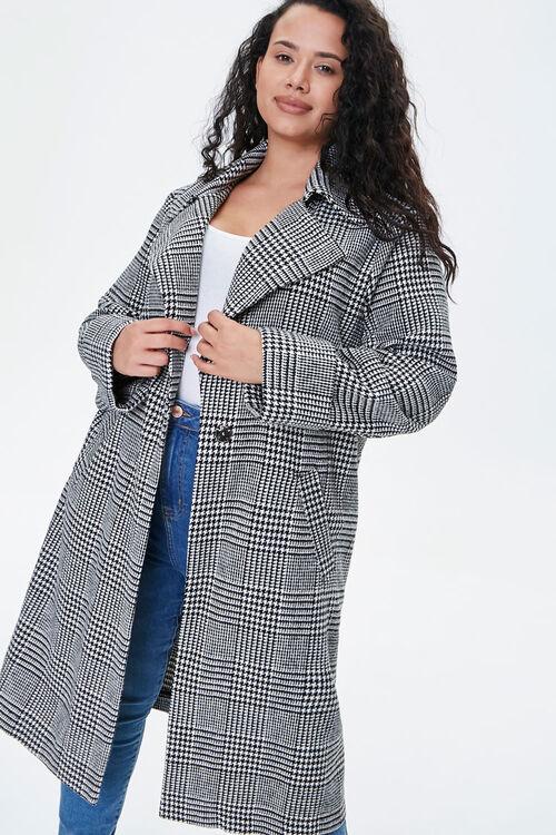 Plus Size Glen Plaid Coat, image 5