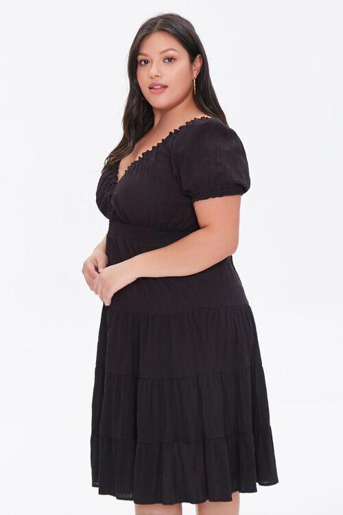 Plus Size Tiered Ruffle-Trim Dress, image 2