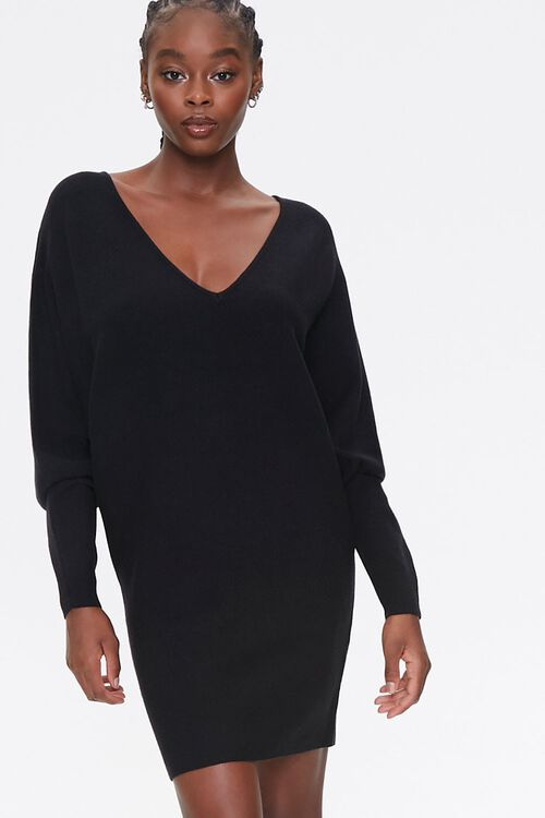 Batwing-Sleeve Sweater Dress, image 4