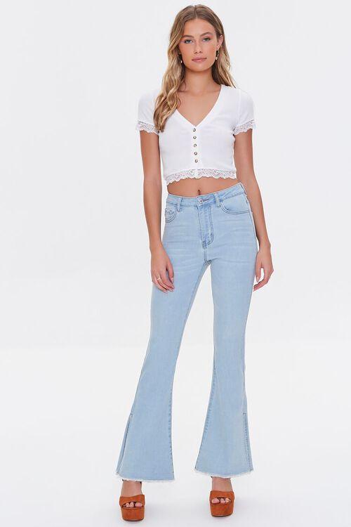 Premium Split-Leg Flare Jeans, image 1