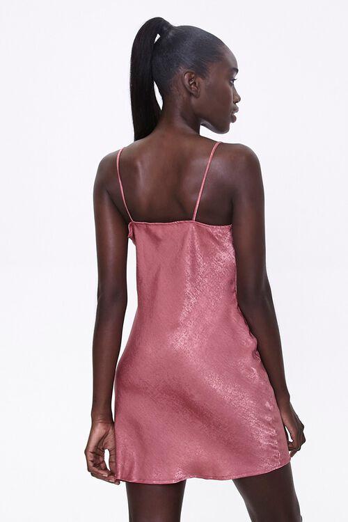 Satin Cowl-Neck Dress, image 3