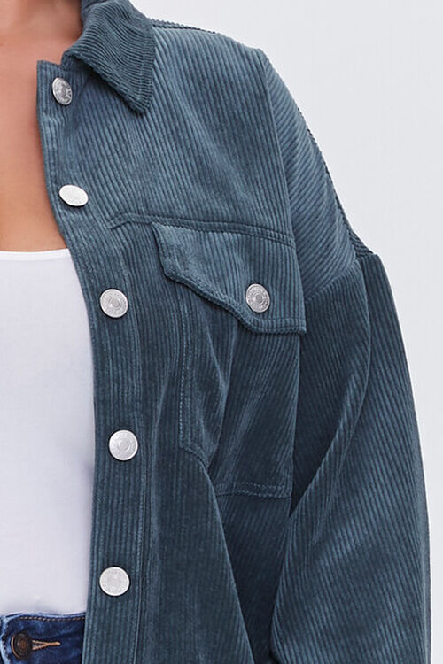 TEAL Plus Size Corduroy Jacket, image 5