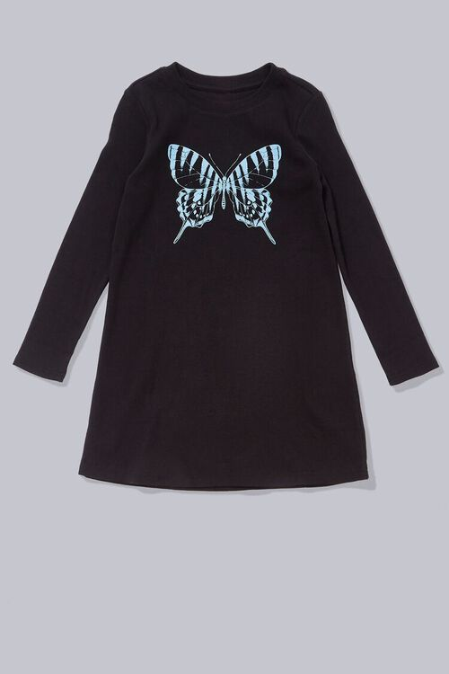 Girls Butterfly Graphic Dress (Kids), image 1