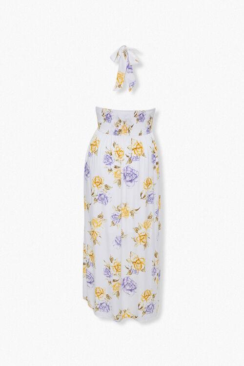 Plus Size Floral Print Halter Dress, image 3