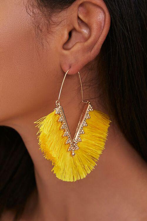 Threaded Fringe Earrings, image 1