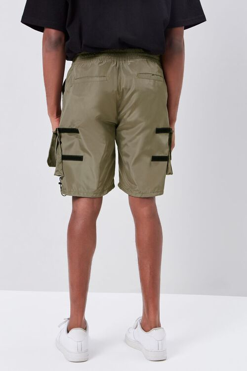 OLIVE Release-Buckle Belted Cargo Shorts, image 4