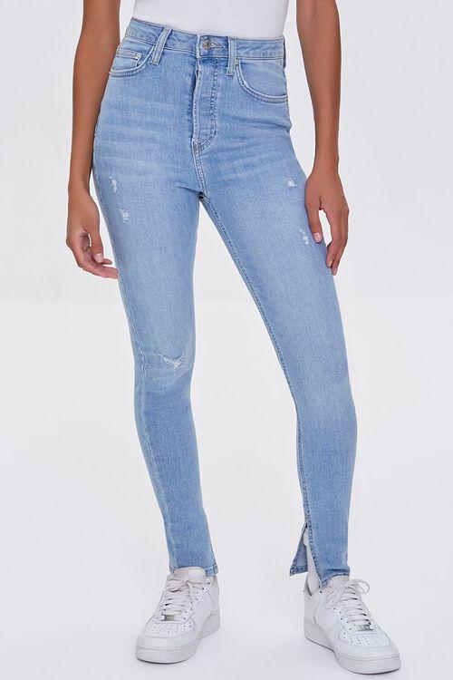 LIGHT DENIM Premium High-Rise Skinny Jeans, image 2