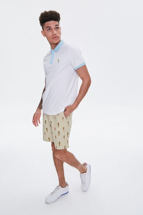 Palm Tree Embroidered Graphic Polo, image 5