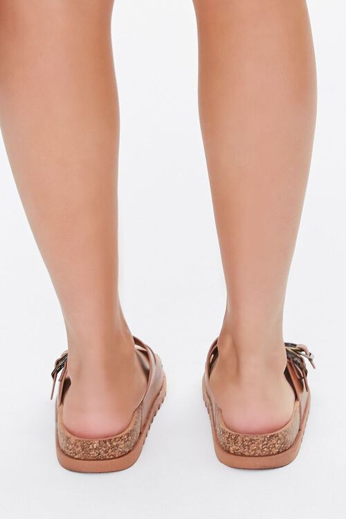 Faux Leather Buckled Sandals, image 4