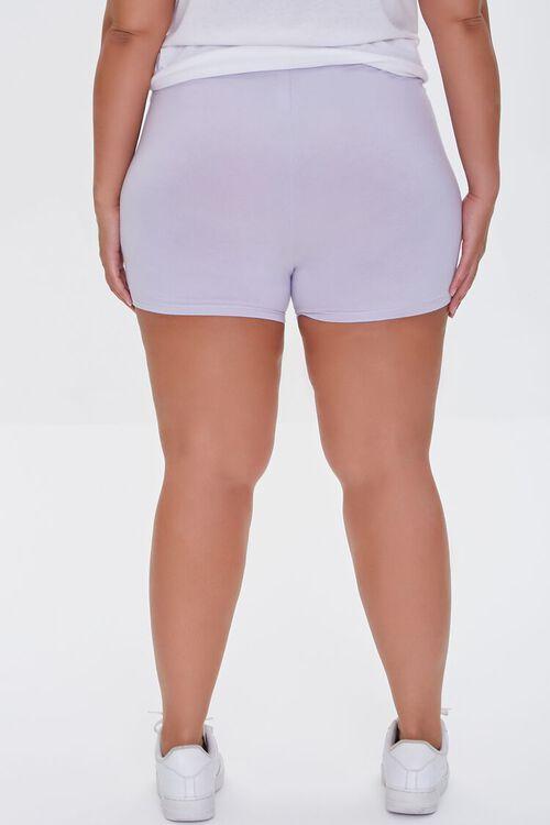 DUSTY LAVENDER Plus Size Basic Organically Grown Cotton Hot Shorts, image 4