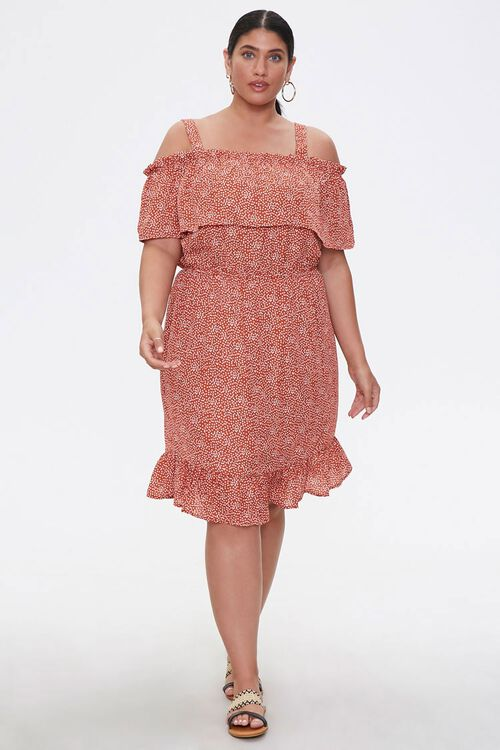 Plus Size Open-Shoulder Dress, image 1