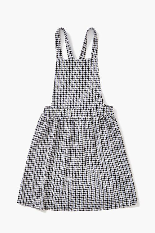 Girls Houndstooth Overall Dress (Kids), image 1