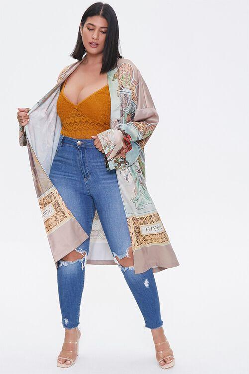 Plus Size Alphonse Mucha Kimono, image 1