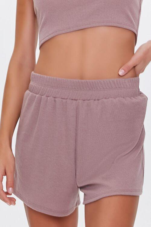 Ribbed One-Shoulder Top & Shorts Sleep Set, image 6