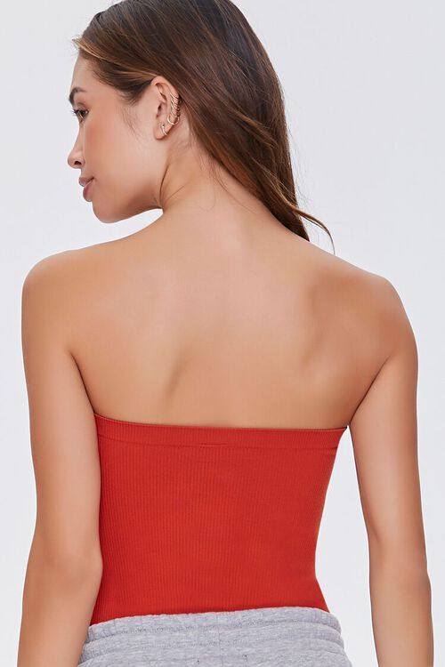 POMPEIAN RED  Seamless Ribbed Bodysuit, image 3