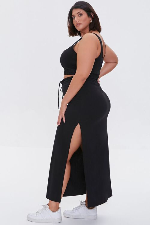 Plus Size Crop Top & Maxi Skirt Set, image 2
