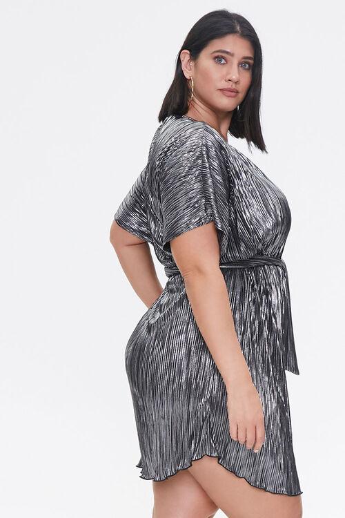 Plus Size Metallic Dolman Dress, image 2