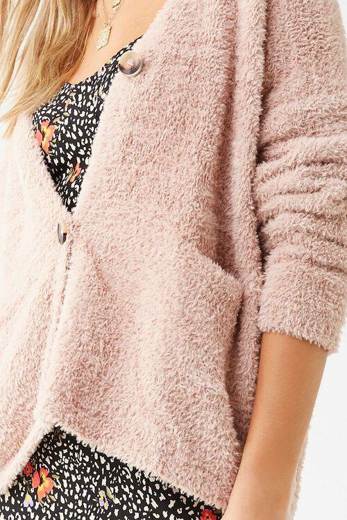 Faux Fur Button-Front Cardigan, image 5