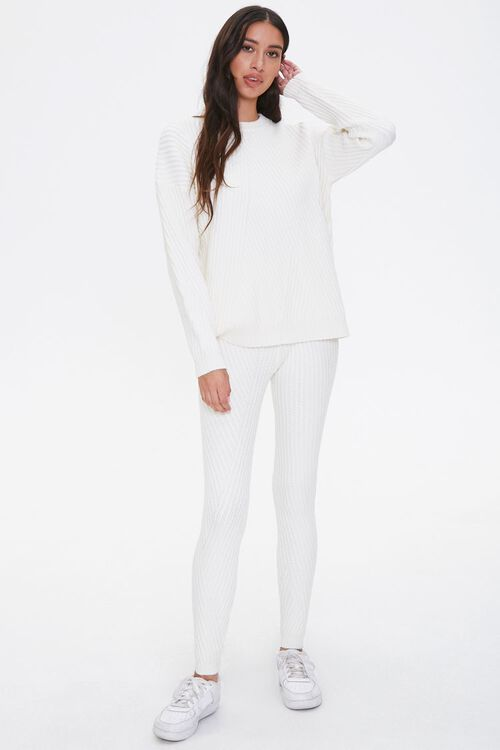 Ribbed Knit Drop-Sleeve Sweater, image 4