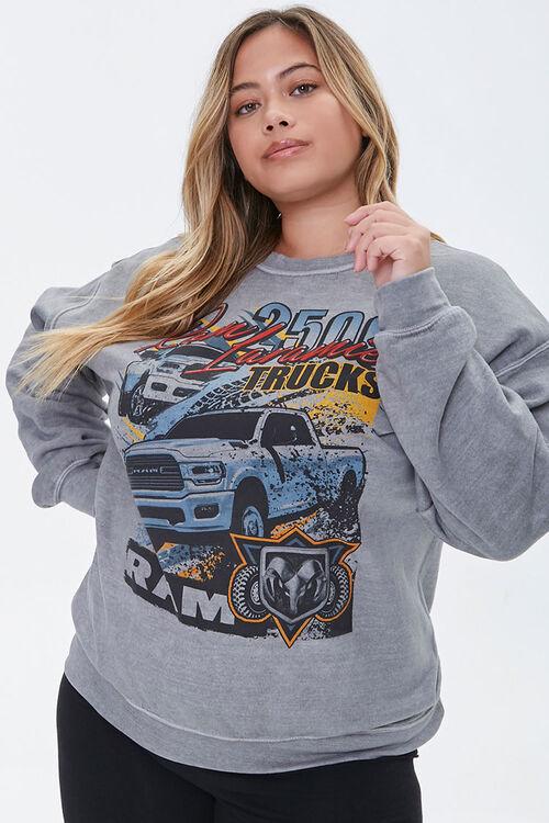 Plus Size Ram Trucks Graphic Sweatshirt, image 1
