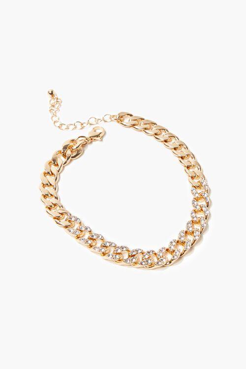 Rhinestone-Trim Chain Anklet, image 1